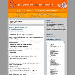 Mot-clé - Mise en voix - La page Lettres de l'académie de Grenoble