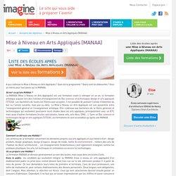 Mise à Niveau en Arts Appliqués (MANAA)