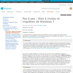 Migration vers Windows 7: pas à pas