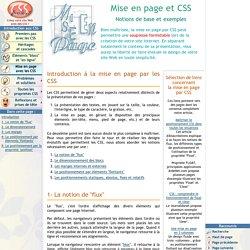 Mise en page et CSS