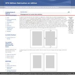 Mise en page : BTS Edition-fabrication en édition