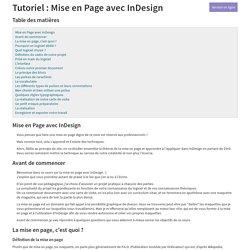 Tutoriel : Mise en Page avec InDesign