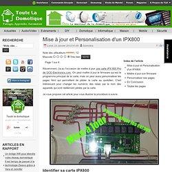 Mise à jour et Personalisation d'un IPX800
