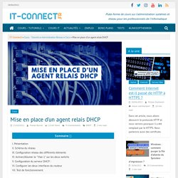 Mise en place d'un agent relais DHCP