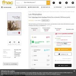 Les Misérables Tome 1 - poche - Victor Hugo - Achat Livre ou ebook - Achat & prix Fnac