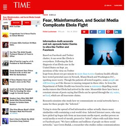 Fear, Misinformation, and Social Media Complicate Ebola Fight