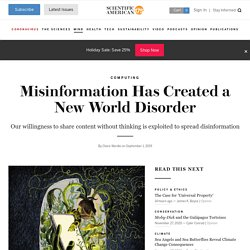 Misinformation Has Created a New World Disorder