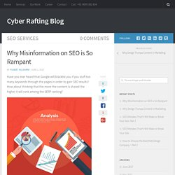 Why Misinformation on SEO is So Rampant - Cyber Rafting Blog