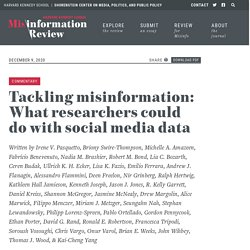 Tackling misinformation: What researchers could do with social media data