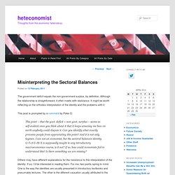 Misinterpreting the Sectoral Balances