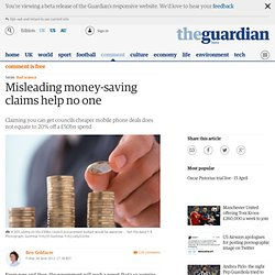 Misleading money-saving claims help no one