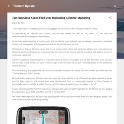 TomTom Class Action Filed Over Misleading 'Lifetime' Marketing
