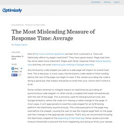 The Most Misleading Measure of Response Time: Average
