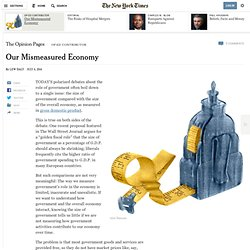 Our Mismeasured Economy