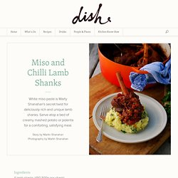 Miso and Chilli Lamb Shanks | Dish