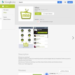 Miso - Android Apps on Google Play