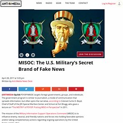 MISOC: The U.S. Military's Secret Brand of Fake News