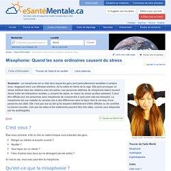 Misophonie: Quand les sons ordinaires causent du stress : World : eSanteMentale.ca