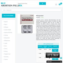 Buy Misoprostol Online