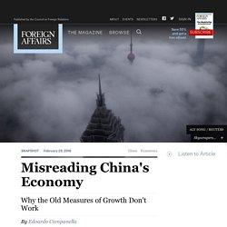 Misreading China's Economy