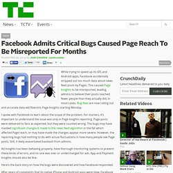 Facebook Admits Critical Bugs Caused Page Reach To Be Misreported For Months