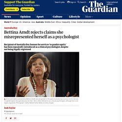 Bettina Arndt rejects claims she misrepresented herself as a psychologist