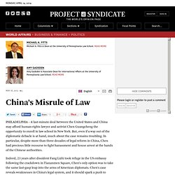 """China's Misrule of Law"" by Michael A. Fitts and Amy Gadsden"