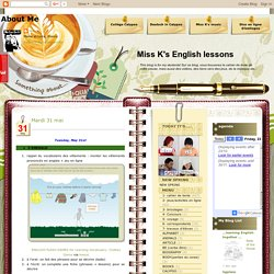 Miss K's English lessons: May 2011