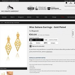 Miss Sahara Earrings - Gold Plated
