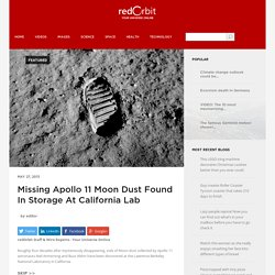 Moon Dust Discovered In California Lab