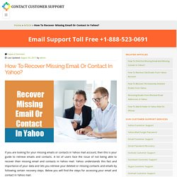 Missing Email & Contacts In Yahoo Email Account - Problem Fixed
