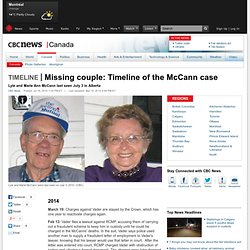 Missing couple: Timeline of the McCann case - Canada