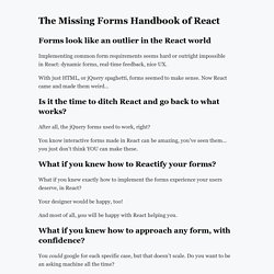 The Missing Forms Handbook of React - Gosha Arinich