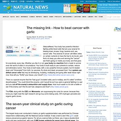 The missing link - How to beat cancer with garlic