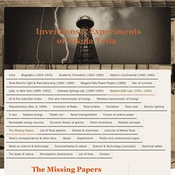 The Missing Papers - Open Tesla Research