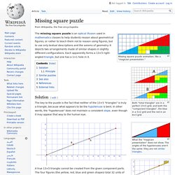 Missing square puzzle - Wikipedia
