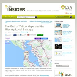 The End of Yahoo Maps and the Missing Local Strategy