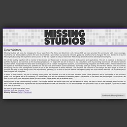 Missing Studios - Providing you with the latest news and the best sims content!