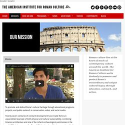 The American Institute for Roman Culture