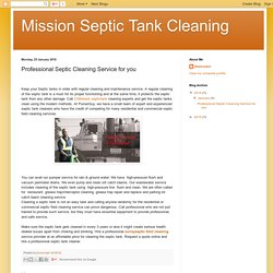 Langley Septic​ Tank Cleaning