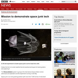 Mission to demonstrate space junk tech