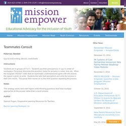 Mission Empower – Teammates Consult