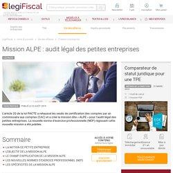 Mission ALPE : audit légal des petites entreprises LégiFiscal