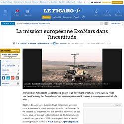 Sciences : La mission européenne ExoMars dans l'incertitude