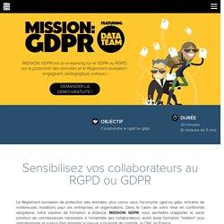 MISSION: GDPR - un e-learning sur le GDPR européen