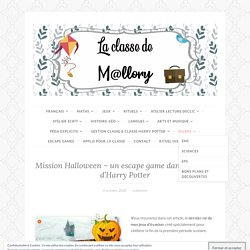 Mission Halloween – un escape game dans l'univers d'Harry Potter