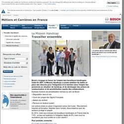 La mission handicap - Métiers et carrières - Bosch