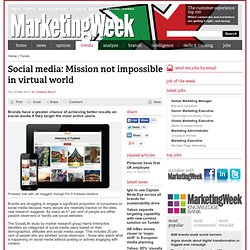 Social media: Mission not impossible in virtual world