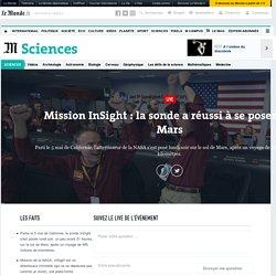 Mission InSight: la sonde a réussi à se poser sur Mars