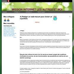 Exemple : MISSION INTERNET LES AUTRES ET MOI